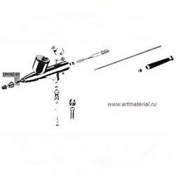 Воздушное сопло с колпачком иглы 0.15 / 0.2мм для EVO\GRAFO\COLANI