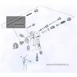 Аэрограф H&S Infinity Solo (сопло 0,15 мм, бачок 2мл)