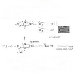 Аэрограф H&S Infinity CR PLUS (сопло 0,15 мм, бачок 2мл)